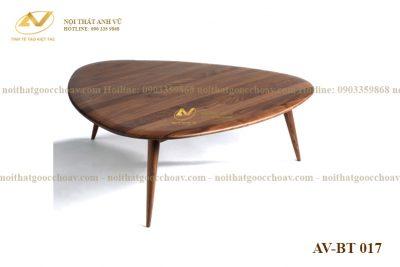 Bàn trà hình tam giác AV-BT 017 - Nội thất gỗ óc chó Anh Vũ