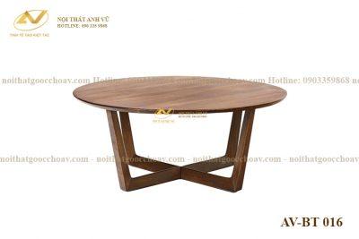 Bàn trà tròn gỗ óc chó AV-BT 016 - Nội thất gỗ óc chó Anh Vũ