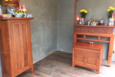 Bộ mẫu bàn thờ hiện đại AV-BT 018- Nội thất gỗ óc chó Anh Vũ