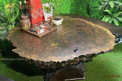 Bàn trà gỗ nu óc chó AV-BT 019 - Nội thất gỗ óc chó Anh Vũ