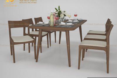 Mẫu bàn ăn hiện đại gỗ óc chó AV-BA 003 - Nội thất gỗ óc chó Anh Vũ