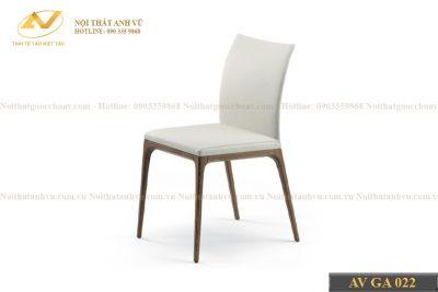 Mẫu ghế phòng ăn gỗ óc chó bọc da AV-GA 022 - Nội thất gỗ óc chó Anh Vũ