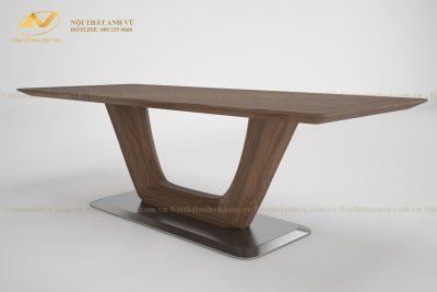 Mẫu bàn ăn gỗ đẹp óc chó cao cấp AV-BA 086 - Nội thất gỗ óc chó Anh Vũ