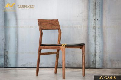 Ghế ăn gỗ cao cấp óc chó AV-BA 018 - Nội thất gỗ óc chó cao cấp Anh Vũ