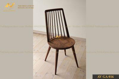 Ghế ăn gỗ đẹp óc chó AV-BA 016 - Nội thất gỗ óc chó cao cấp Anh Vũ