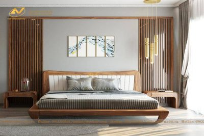 Giường ngủ gỗ cao cấp óc chó - Nội thất gỗ óc chó