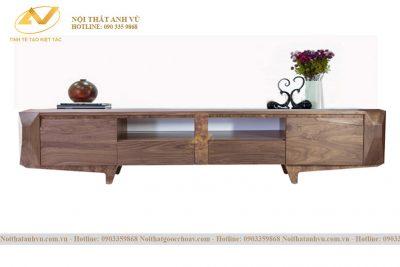 Kệ tủ tivi gỗ đẹp Óc chó AV-KTV 014 - Nội thất phòng khách gỗ óc chó